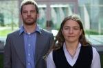 Micha Kurz and Sahar Vardi at Parliament House