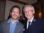 Micha Kurz and Major Kelvin Alley at the Parliamentary Friends of Palestine event