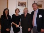 Suheir Gedeon (Palestinian Delegation), Margo Gates, Karen Andrews MP, Rev Jim Barr at the Parliamentary Friends of Palestine event