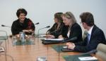 Dr El Farra speaking with Parliamentarians