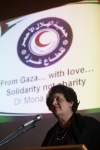 Dr Mona El Farra presents at public meeting supported by local groups