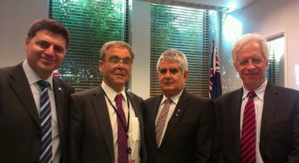 Prof Bassam Dally, Bishop George Browning; Mr Ken Wyatt MP, Prof Peter Slezak