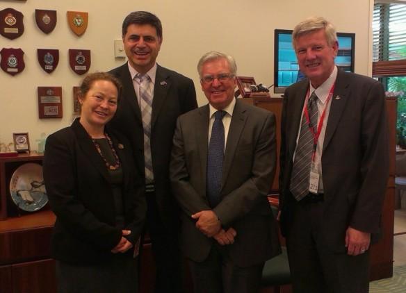 Jessica Morrison, Prof Bassam Dally, Mr Chris Hayes MP, Rev Gregor Henderson