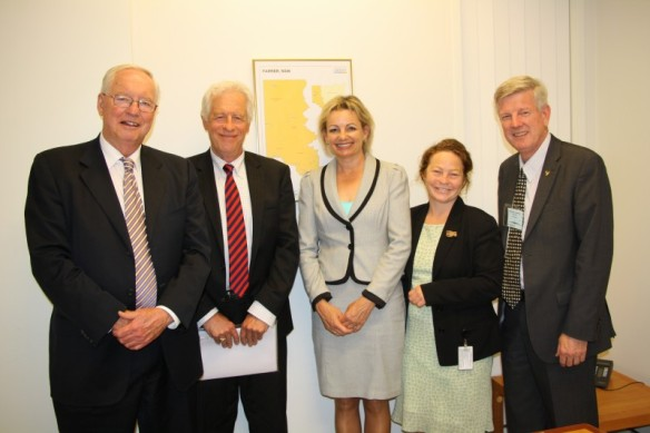 Mr Peter Manning; Prof Peter Slezak; Minister Ley; Jessica Morrison; Rev Gregor Henderson