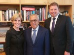 Dr Fayyad meeting with the Foreign Minister Julie Bishop and Craig Laundy MP