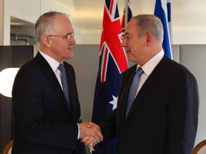 PM Netanyahu meeting with Australian PM Malcolm Turnbull in New York.